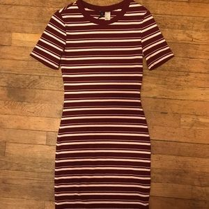 H&M Bodycon Striped Mini Dress